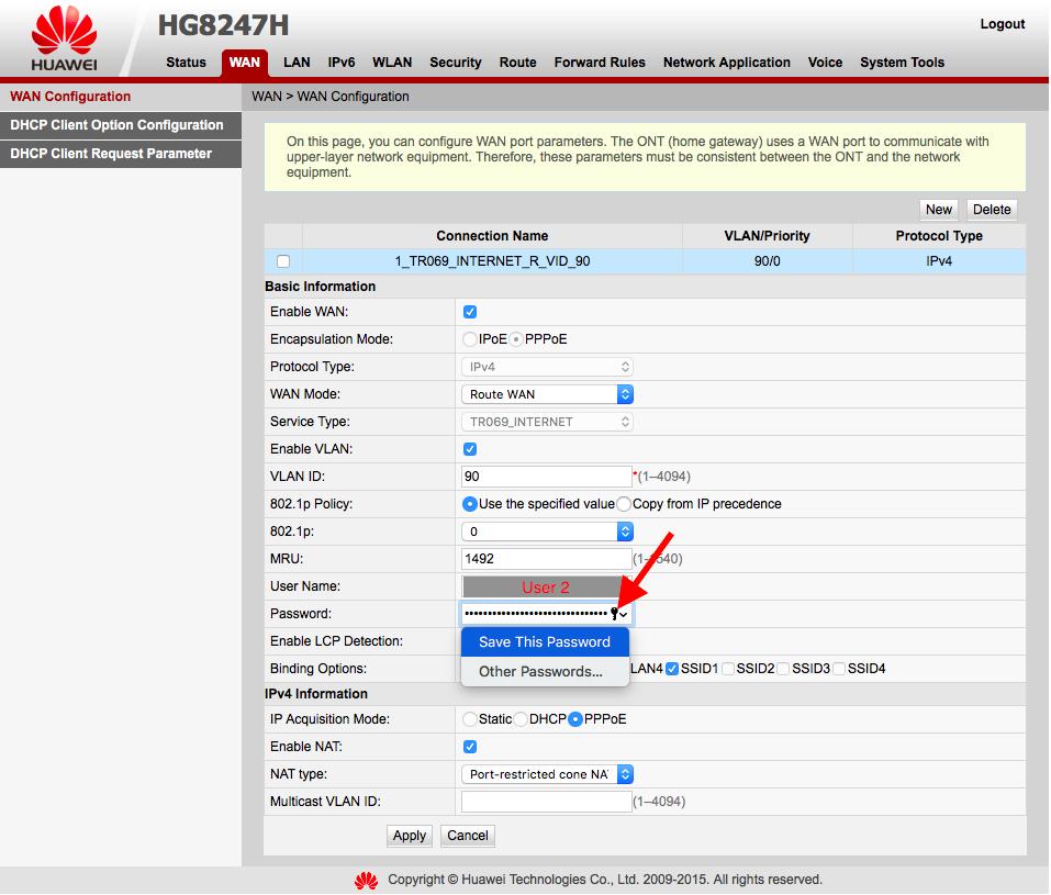 Huawei hg633 bridge mode