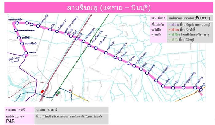 รถไฟฟ้ามหานครสายสีชมพู (แคราย - มีนบุรี)