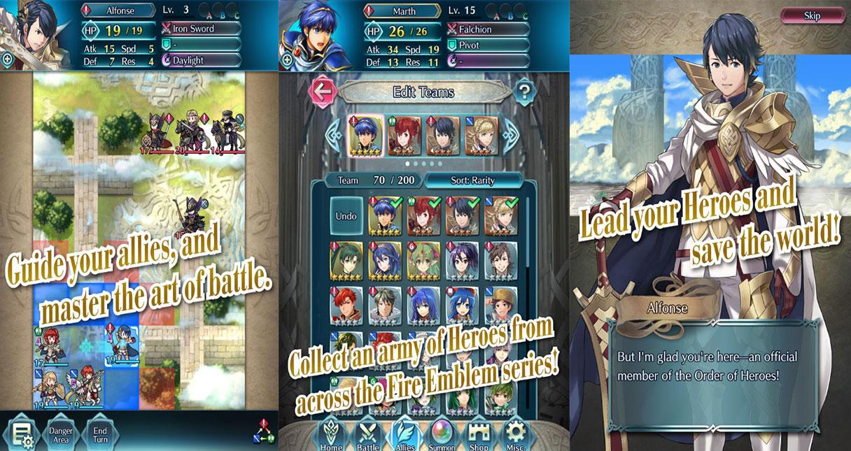 Fire Emblem Heros เกมส์ mobile พร้อมโหลดแล้ววันนี้ทั้ง ios และ